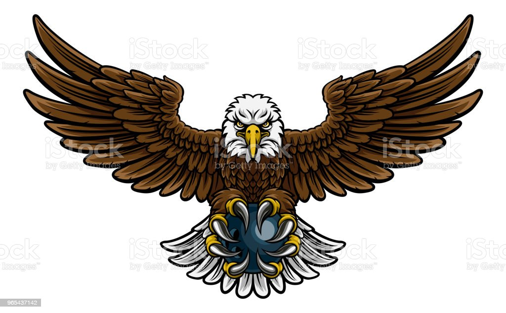 Eagle Bowling Sports Mascot royalty-free eagle bowling sports mascot stock vector art & more images of american culture