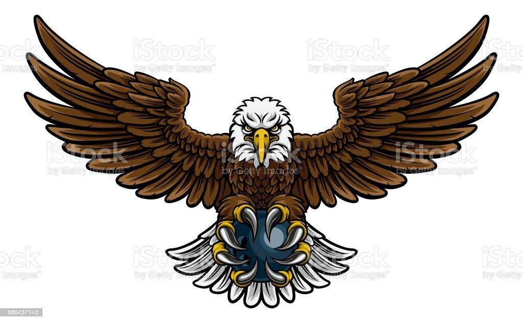 Eagle Bowling Sports Mascot eagle bowling sports mascot - stockowe grafiki wektorowe i więcej obrazów białe tło royalty-free