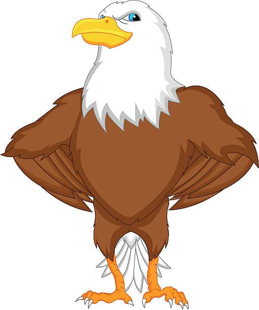 Royalty Free Cartoon Of A Animated Eagle Clip Art, Vector ...