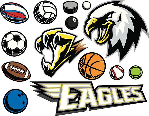 Eagle & Claw Mascot vector art illustration