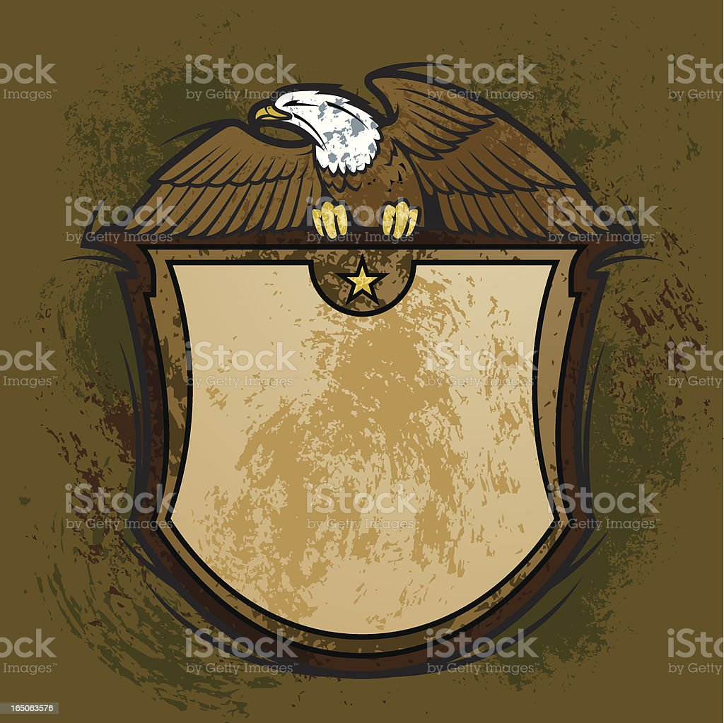Eagle Crest Distressed royalty-free eagle crest distressed stock vector art & more images of animal