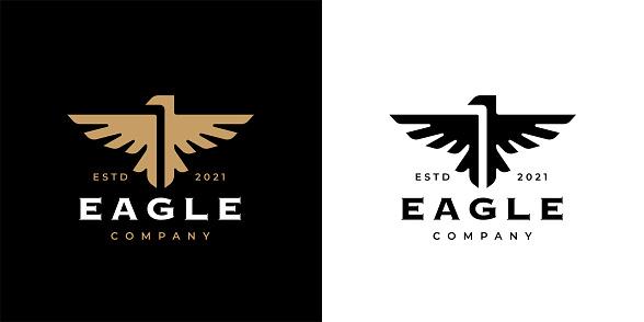 Eagle crest icon template design