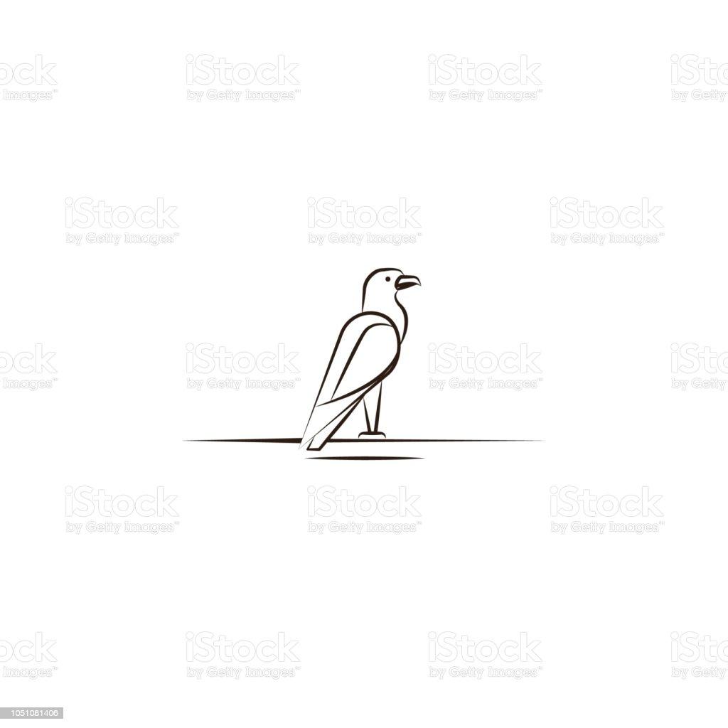 eagle, desert animal icon. Element of desert icon for mobile concept...