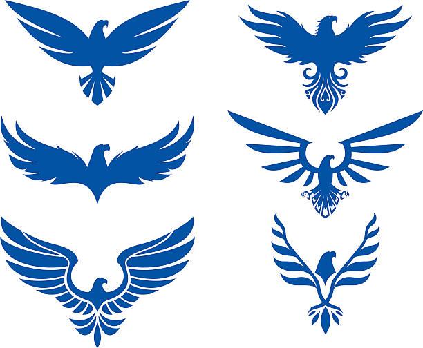 Águila Juego de diseño - ilustración de arte vectorial