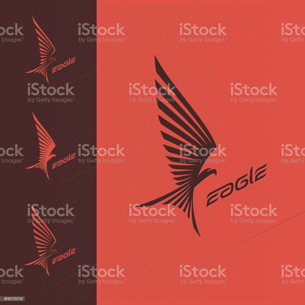 Eagle emblem design vector art illustration