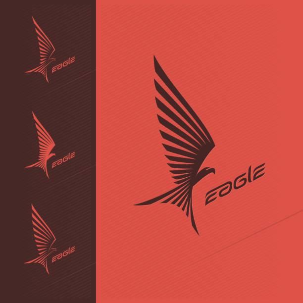 Eagle emblem design vector art illustration
