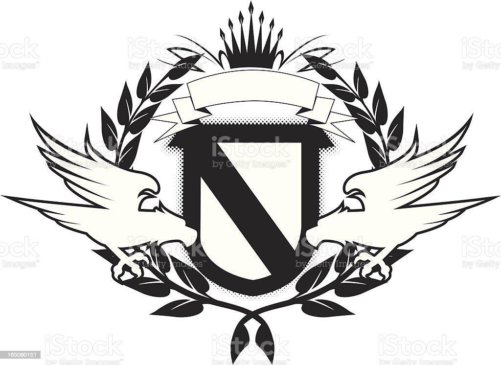 eagle emblem royalty-free stock vector art