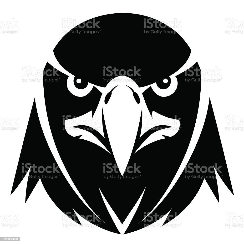 イーグル顔モノクロ のイラスト素材 527033658 | istock
