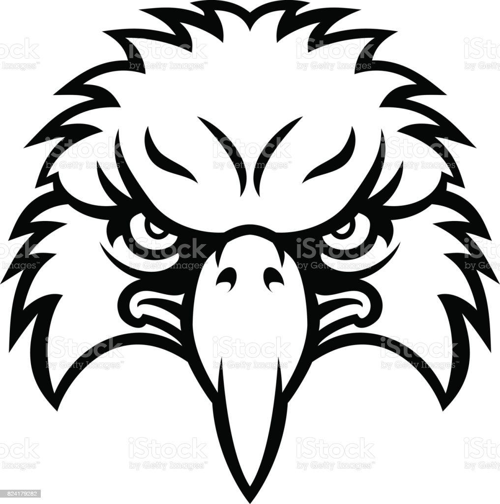 royalty free sea eagle clip art vector images illustrations istock Black Eagle Clip Art eagle face vector art illustration