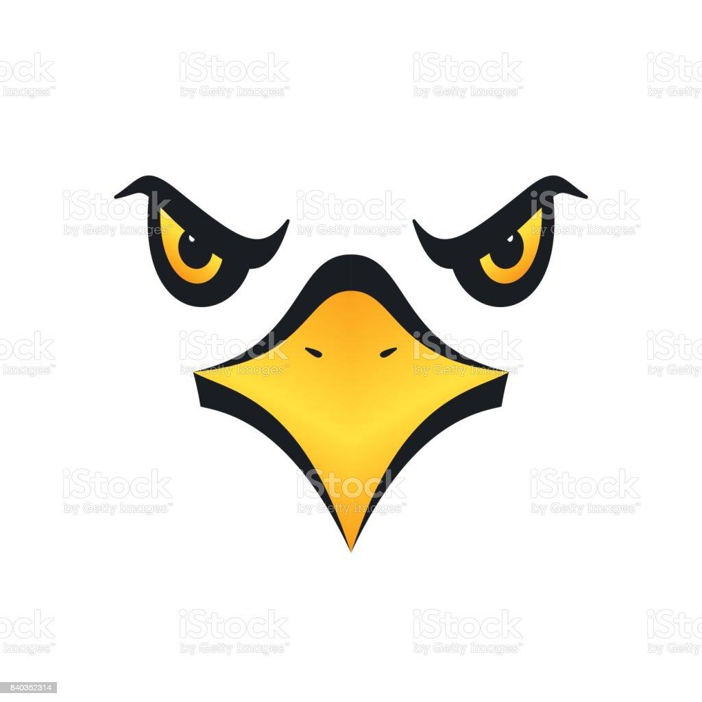 Eagle face, vector illustration vector art illustration