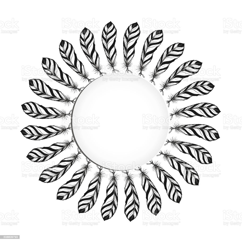 Eagle feather round frame native american ethnic symbol stock eagle feather round frame native american ethnic symbol royalty free eagle feather round frame native biocorpaavc Gallery