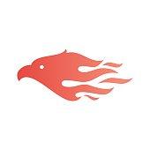 eagle fire bird vector icon illustration