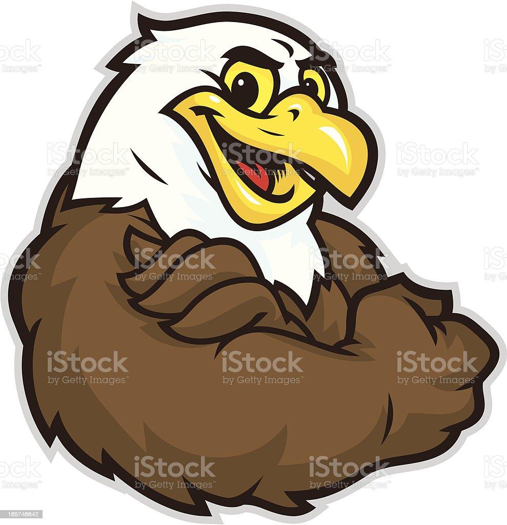 Eagle Flex vector art illustration