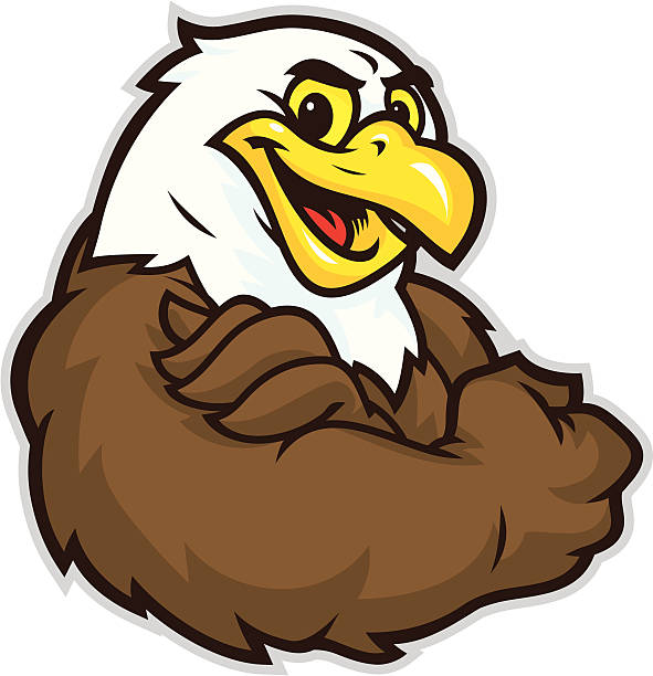 Eagle Flex This Kid Eagle flex is is confidently flexing his muscle. mascot stock illustrations