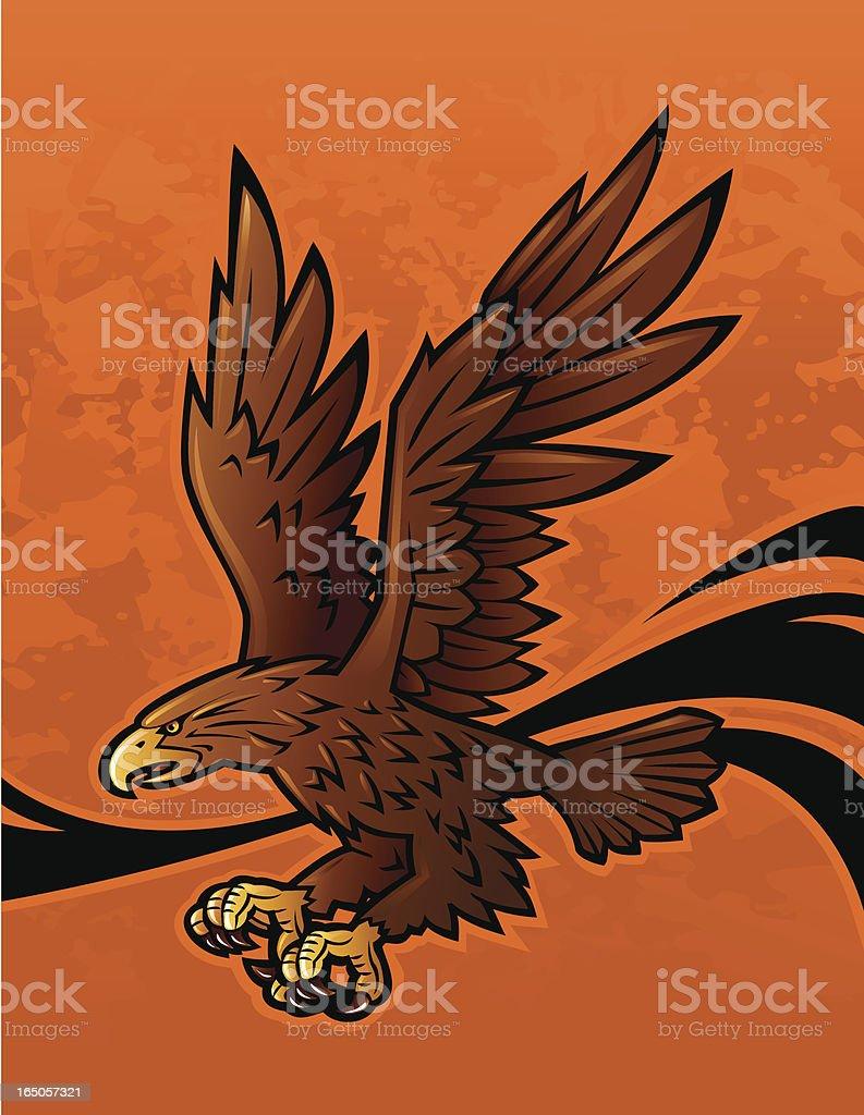 Eagle flying royalty-free stock vector art