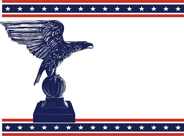 Eagle frame vector art illustration