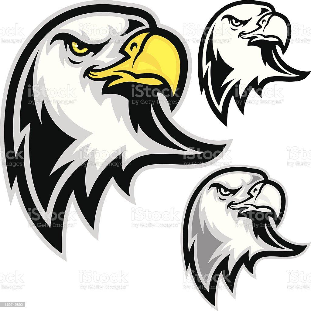 Eagle Head Forward vector art illustration