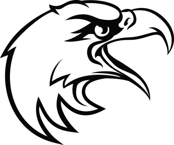 Royalty Free Black And White Eagle Clip Art, Vector Images ...