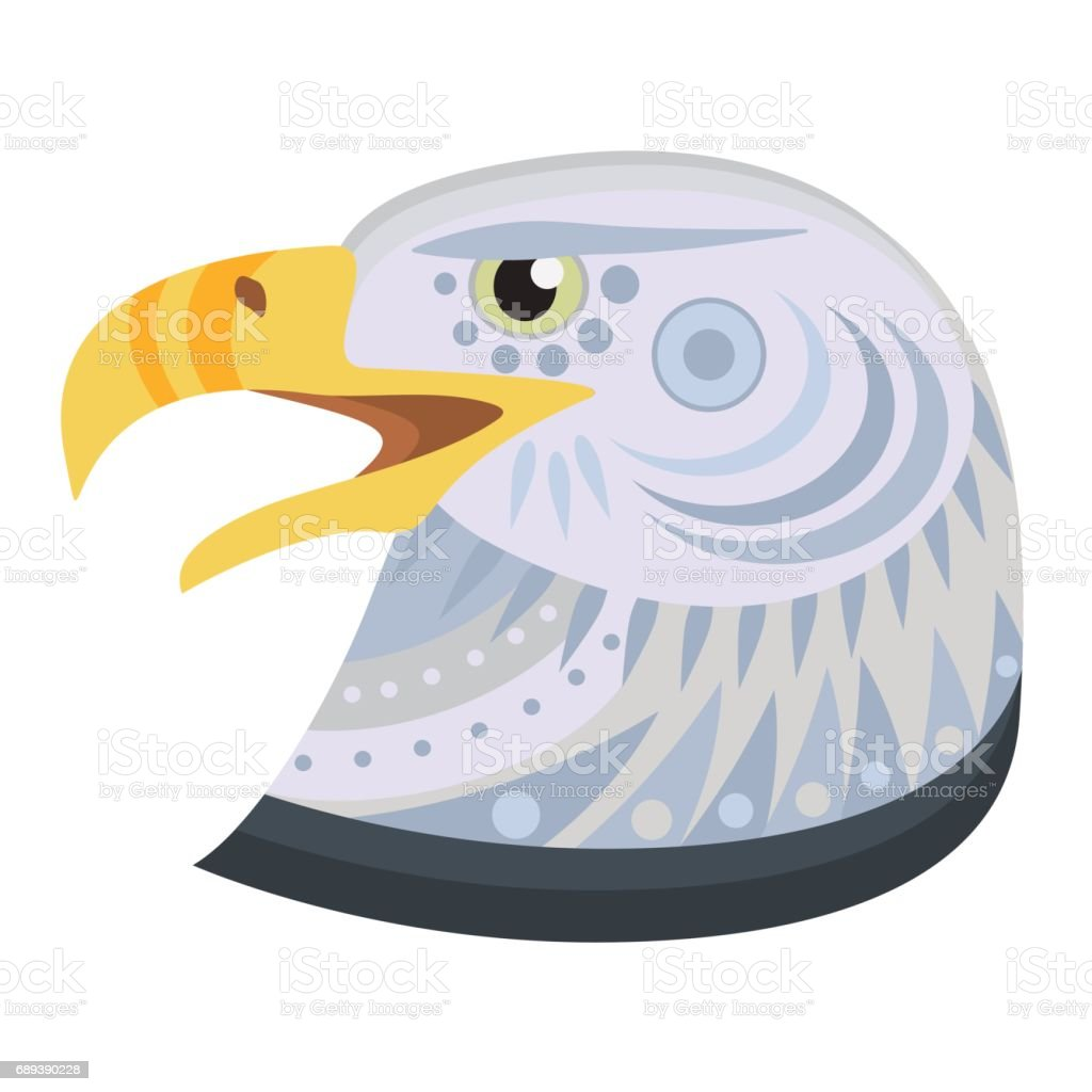 Eagle Head icon. Monkey Vector decorative Emblem isolated vector art illustration
