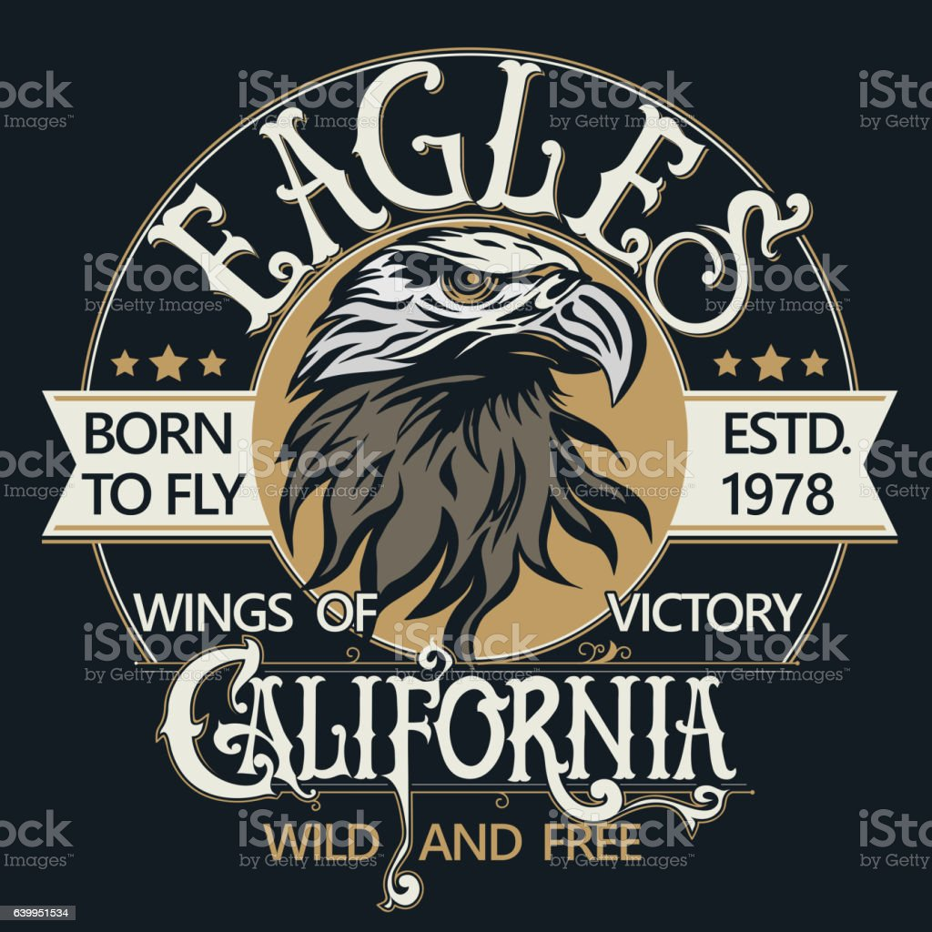 Eagle head logo vector vector art illustration