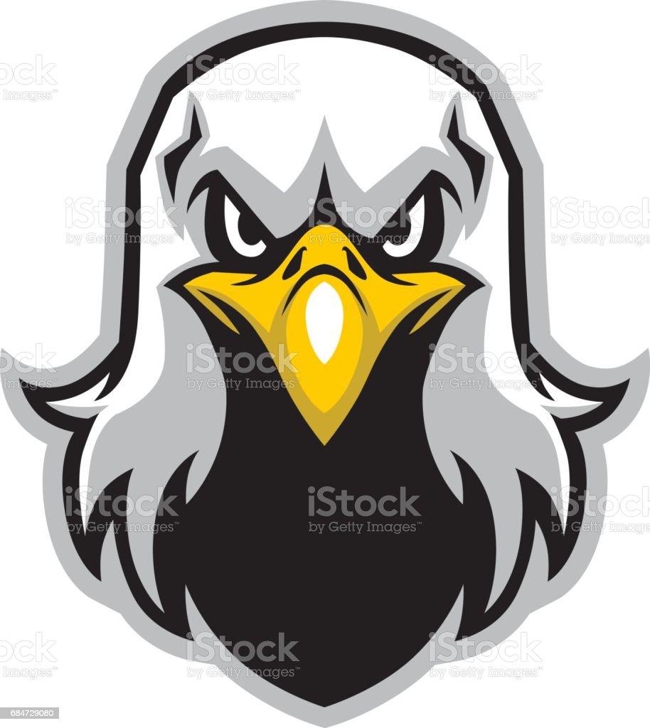 eagle head mascot vector art illustration