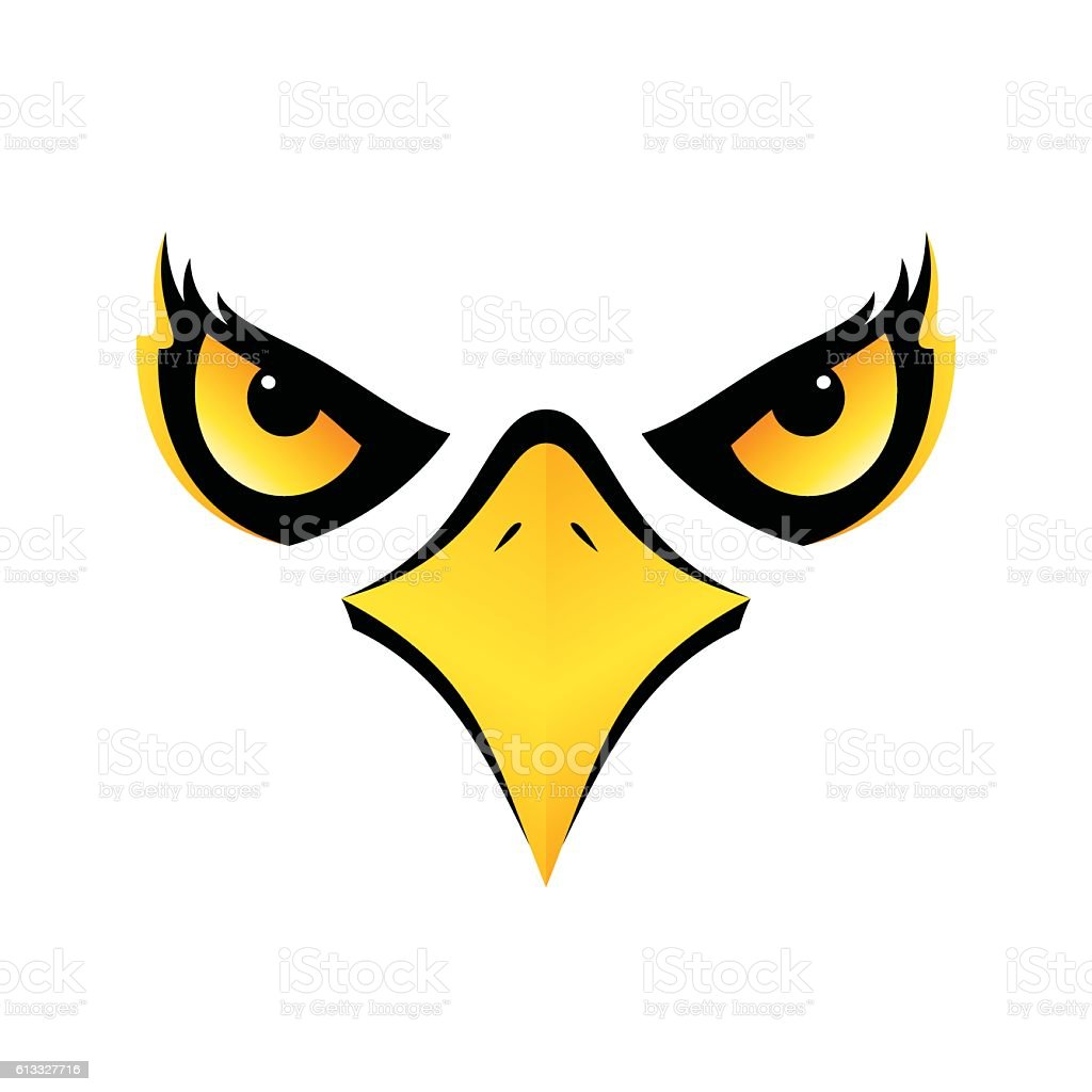 Eagle Head On White Background Vector Icon Eps10 Stock Vector Art ...