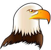 Eagle head symbol shield icon