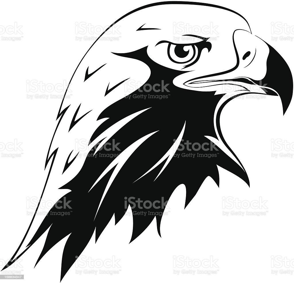 Ilustración de Águila De Cabeza y más banco de imágenes de Blanco y ...