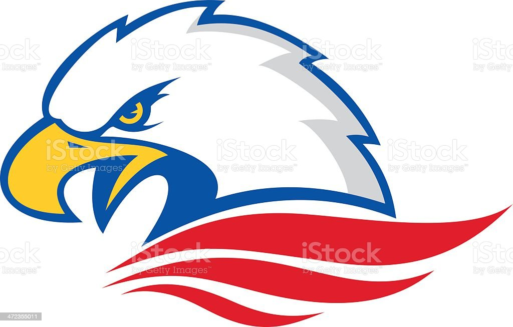 Eagle head vector art illustration