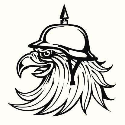 Eagle Head with Helmet