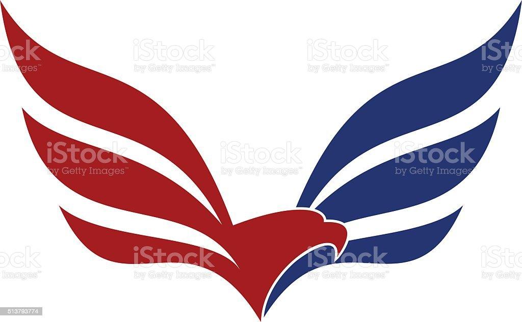 águila icono, American águila - ilustración de arte vectorial