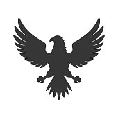 Eagle Icon. Bird symbol on White Background. Vector illustration