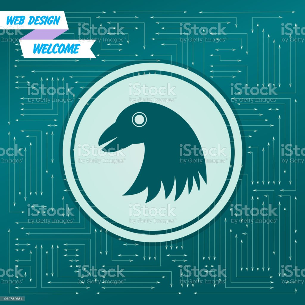 Adlersymbol Auf Einem Grünen Hintergrund Mit Pfeilen In Verschiedene ...