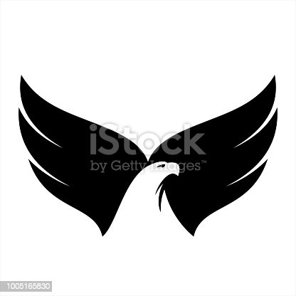 Eagle illustration, vector icon