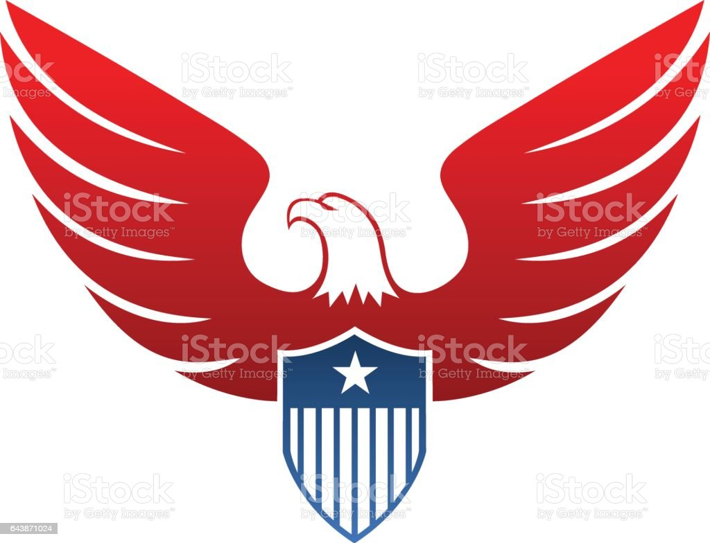 Eagle Icon vector art illustration