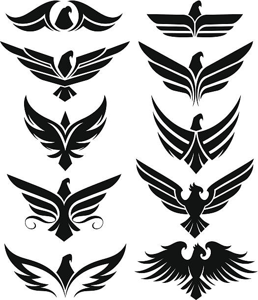 Eagle iconos - ilustración de arte vectorial