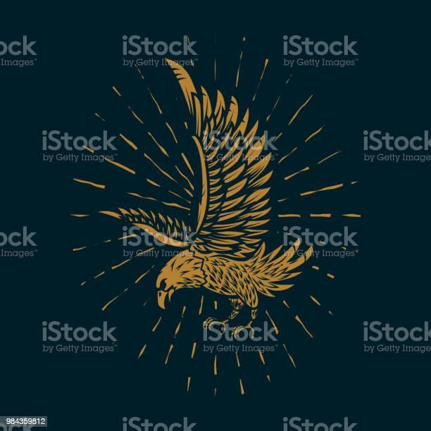 Eagle illustration in golden style on dark background design element vector id984359812?b=1&k=6&m=984359812&s=612x612&h=7r 1sgr0odpspnx1c6td4yrwctsyil4hs9ionnnnxam=