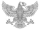 Eagle possibly German, Roman, Russian, American or Byzantine imperial heraldic symbol