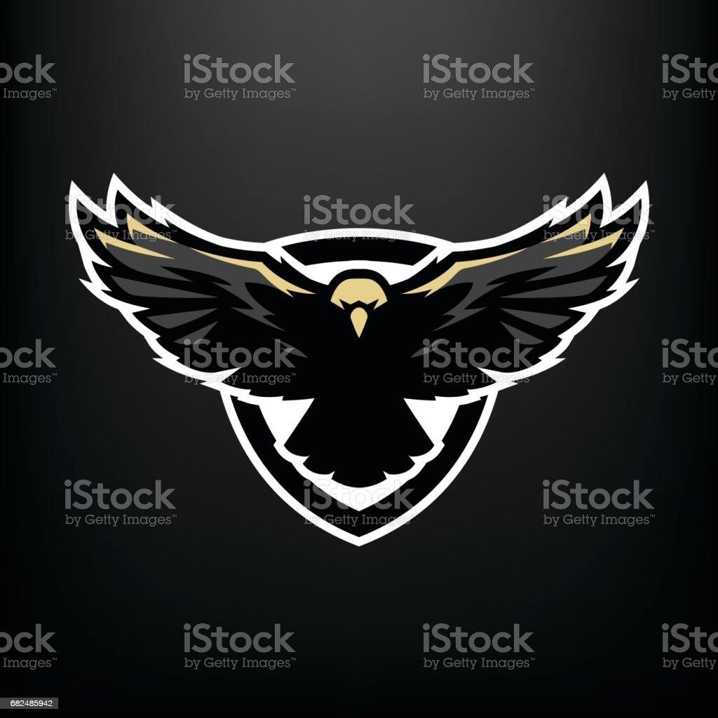 Eagle in vlucht, pictogram, symbool. royalty free eagle in vlucht pictogram symbool stockvectorkunst en meer beelden van arend