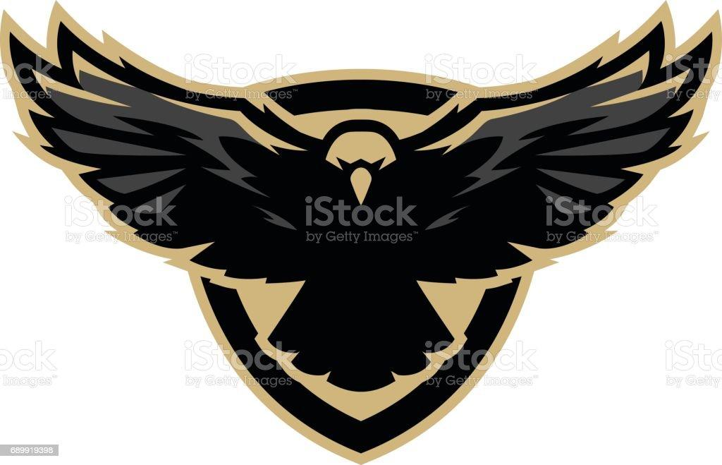 Eagle in flight, icon , symbol. Vector illustration. vector art illustration