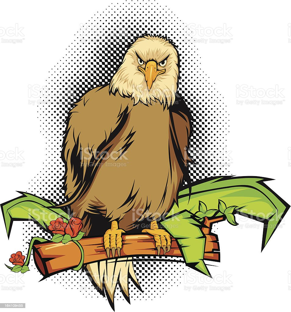 Eagle in forest royalty-free stock vector art