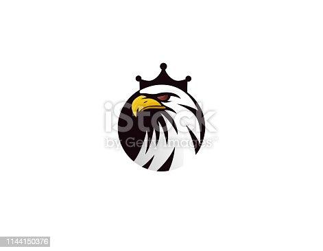 sign, eagle, animal, crown