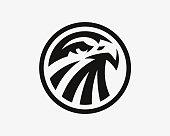 Eagle logo. Hawk emblem design editable for your business. Vector illustration.