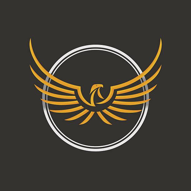 Eagle Logo icono plantilla de diseño de vector de Stock. - ilustración de arte vectorial