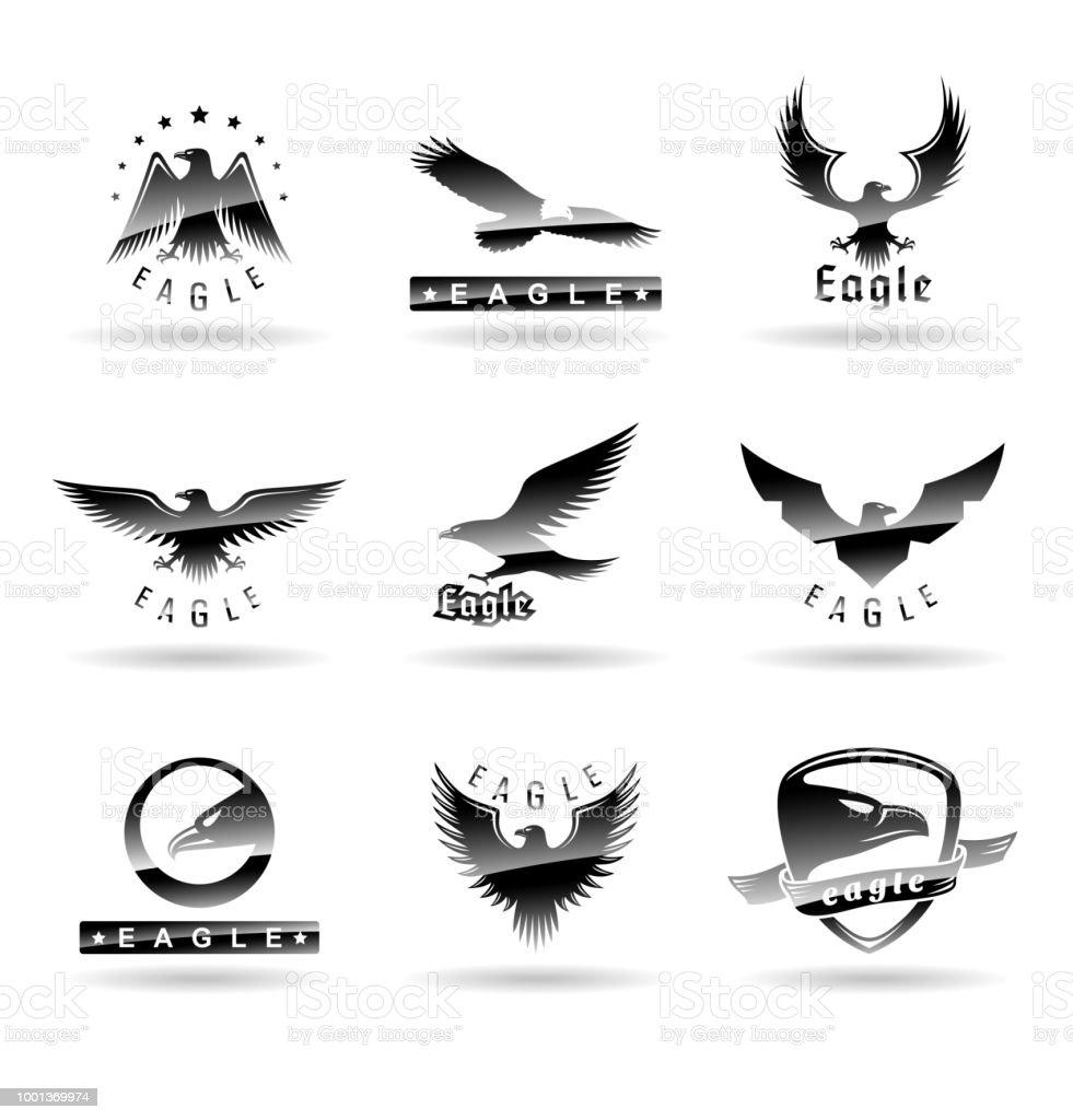 eagle logo vector design falcon logotype template hawk illustration