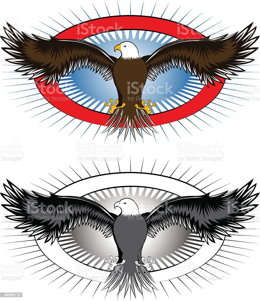 Eagle Logo - Grafika wektorowa royalty-free (Elipsa)