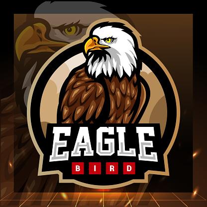 Eagle mascot. game icon design