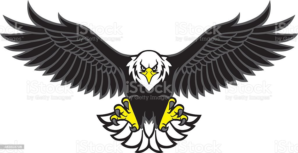 royalty free eagle mascot clip art vector images illustrations rh istockphoto com eagle school mascot clipart eagle mascot clipart free