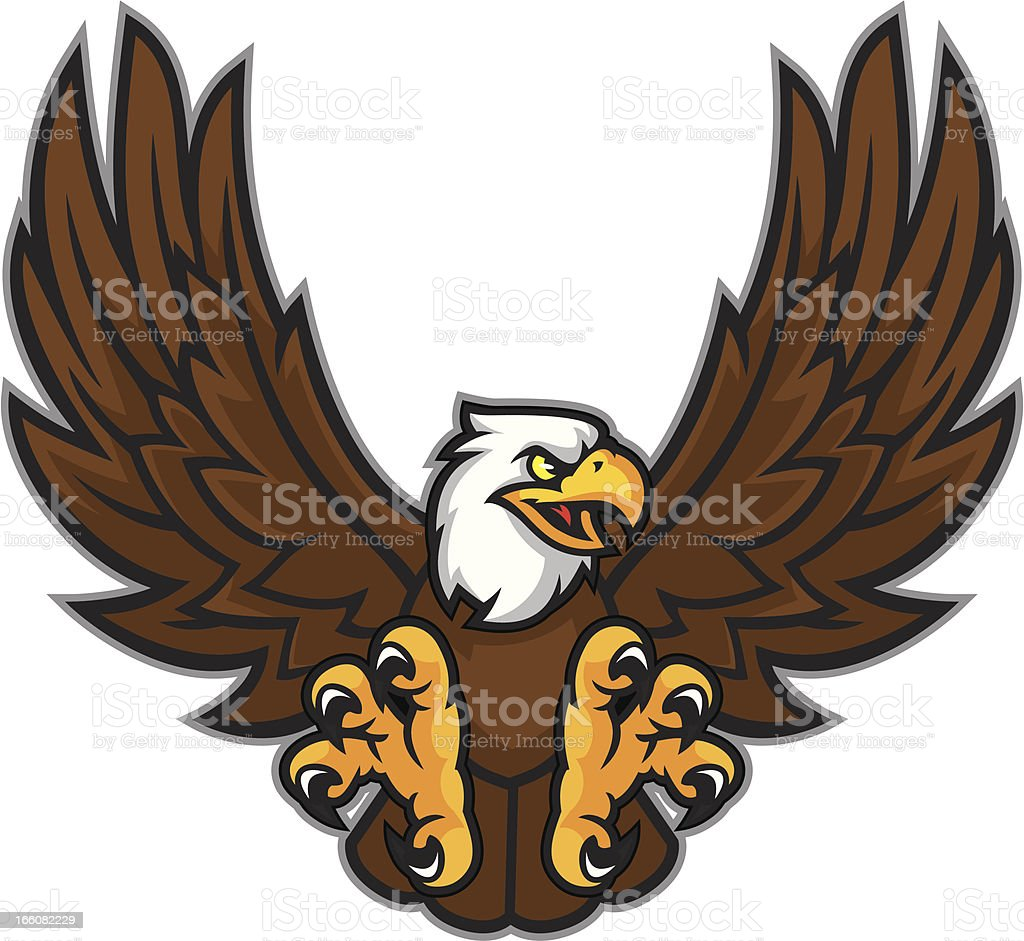 royalty free eagle mascot clip art vector images illustrations rh istockphoto com eagle head mascot clipart eagle school mascot clipart
