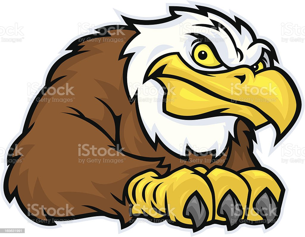 Eagle mascot with a confident look, vector vector art illustration